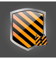Security shield with lock 2 vector image vector image