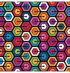 Colorful geometric pattern with hexagons vector image vector image
