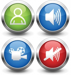 film buttons vector image vector image