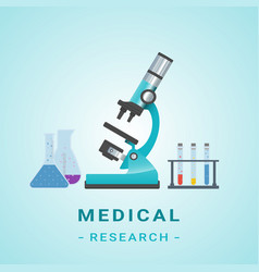 medical researh microscope isolated vector image