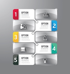 Modern infographics design options glass banner vector