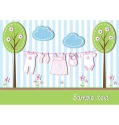 New baby girl card vector image