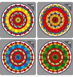 set of colorful circular ornaments vector image