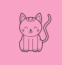 sitting cat sitting cat meme vector image