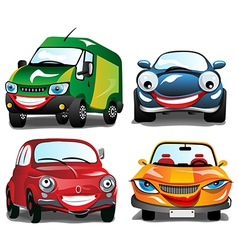 Smiling Car vector image vector image