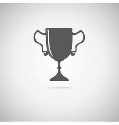 black trophy icon vector image vector image