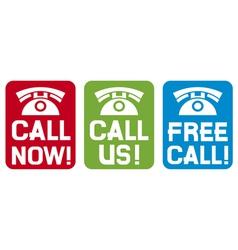 Call now - Call us - Free call vector image