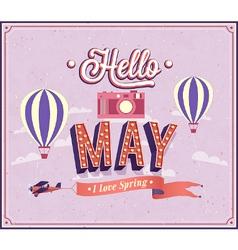 Hello may typographic design vector