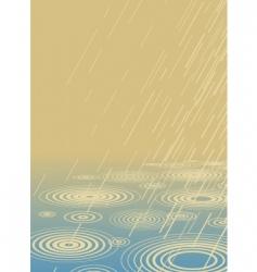 light rain vector image vector image