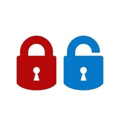 Lock-unlock icon vector image vector image