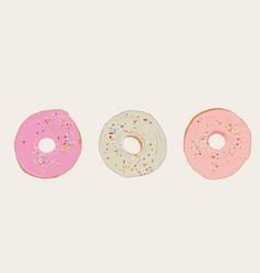 set of donut sketch vector image