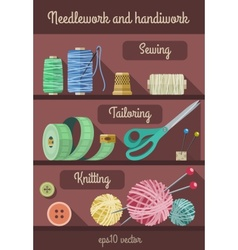 Set of tools and materials vector image
