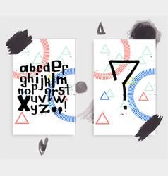 unique latin alphabet vector image vector image