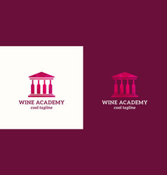 wine academy abstract sign emblem or logo vector image