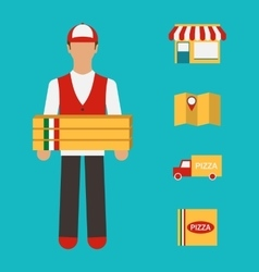 Banner with Pizza Delivery Perfect Service vector image