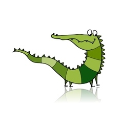 Funny crocodile for your design vector image vector image