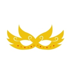 party mask isolated icon vector image