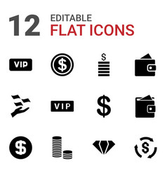 12 rich icons vector