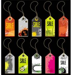 a set of grunge tags vector image