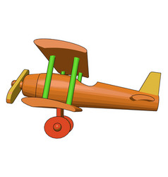 A toy biplane toy or color vector