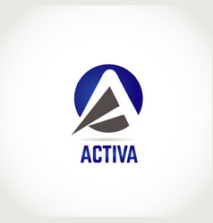 active company business logo symbol vector image