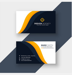 Awesome yellow business card template vector