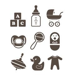 Baby elements vector