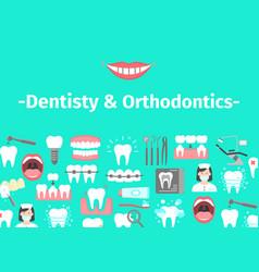banner of dental cabinet vector image