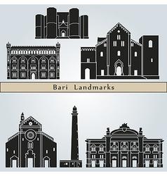 Bari landmarks and monuments vector image