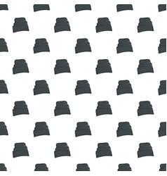 Beanie hat pattern seamless vector