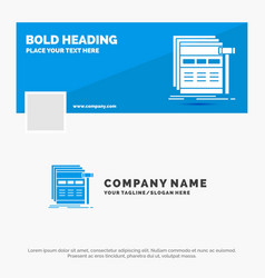 blue business logo template for internet page web vector image