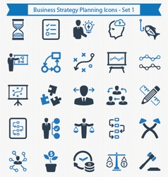 Business Strategy Planning Icons - Set 1 vector image