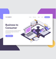Business to consumer isometric vector