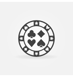 Casino chip icon vector image