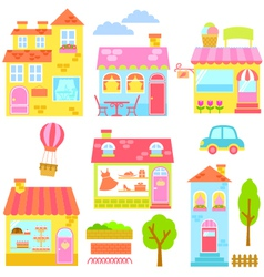 colorful buildings vector image