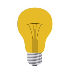 colorful silhouette of light bulb icon vector image