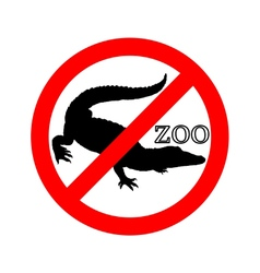 Crocodile in zoo prohibited vector