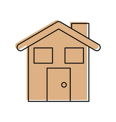cute house with chimney vector image
