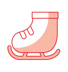 cute shadow ice skate vector image