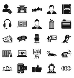 deliberation icons set simple style vector image