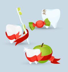 dental care set images on vector image