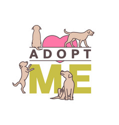 Dog adoption logo vector