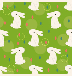 easter bunny on the grass vector image