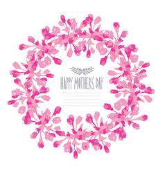 elegant floral wreath vector image