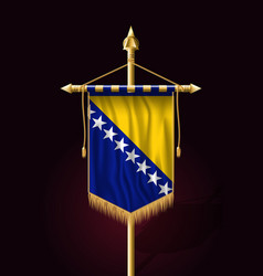Flag of bosnia and herzegovina festive vertical vector