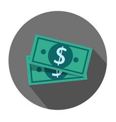flat design dollar money cash icon cash vector image