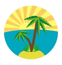 Flat palm icon vector
