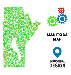 Gears manitoba province map composition vector