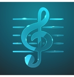 glass music icon vector image