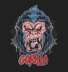 Gorilla angry face artwork vector